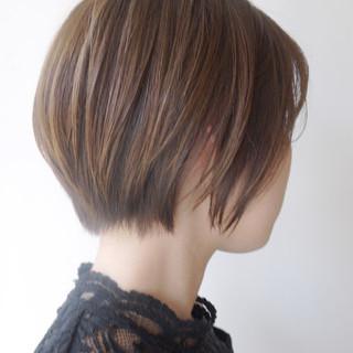 ショート 似合わせ 小顔 コンサバ ヘアスタイルや髪型の写真・画像