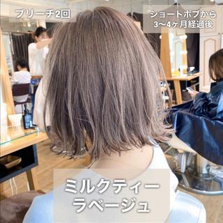 モテボブ ボブ 切りっぱなしボブ 簡単ヘアアレンジ ヘアスタイルや髪型の写真・画像