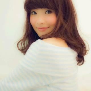 モテ髪 パーマ セミロング コンサバ ヘアスタイルや髪型の写真・画像
