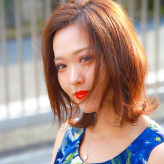 ふんわり おフェロ 小顔ヘア  ヘアスタイルや髪型の写真・画像