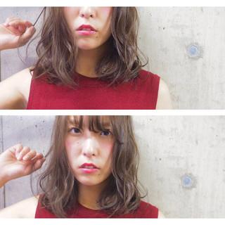 ナチュラル ボブ 色気 セミロング ヘアスタイルや髪型の写真・画像 ヘアスタイルや髪型の写真・画像