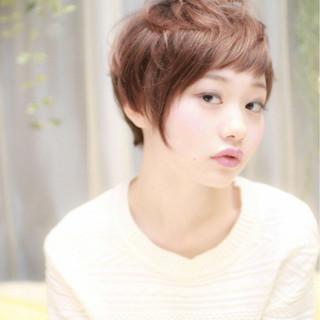 ベリーショート 上品 ショート エレガント ヘアスタイルや髪型の写真・画像
