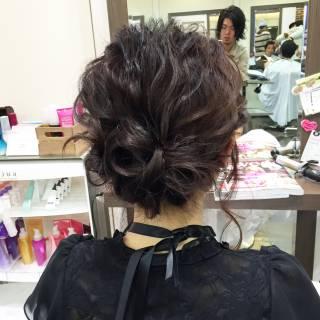 コンサバ ショート ヘアアレンジ 結婚式 ヘアスタイルや髪型の写真・画像
