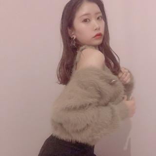 韓国 韓国ヘア ナチュラル 女っぽヘア ヘアスタイルや髪型の写真・画像