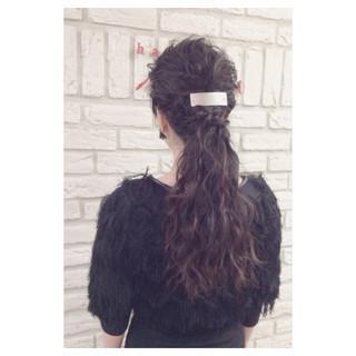 ウェーブ パーティ 外国人風 ヘアアレンジ ヘアスタイルや髪型の写真・画像 ヘアスタイルや髪型の写真・画像