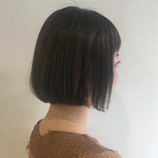 ワンカール ナチュラル アッシュグレージュ ボブ ヘアスタイルや髪型の写真・画像