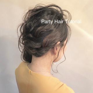 簡単ヘアアレンジ ロング ナチュラル 結婚式 ヘアスタイルや髪型の写真・画像 ヘアスタイルや髪型の写真・画像