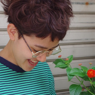 ストリート アッシュ ピュア パーマ ヘアスタイルや髪型の写真・画像