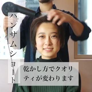 デート スポーツ ショート 簡単ヘアアレンジ ヘアスタイルや髪型の写真・画像
