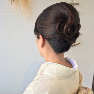 和装 ヘアアレンジ ロング 上品 ヘアスタイルや髪型の写真・画像 ヘアスタイルや髪型の写真・画像