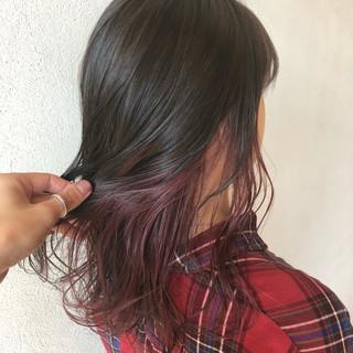 バイオレットアッシュ エレガント アッシュバイオレット ピンクバイオレット ヘアスタイルや髪型の写真・画像