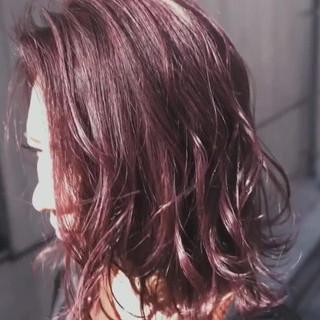 外国人風カラー ハイライト バレイヤージュ ピンクブラウン ヘアスタイルや髪型の写真・画像