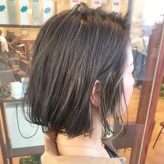 ショートボブ オフィス ボブ ミニボブ ヘアスタイルや髪型の写真・画像