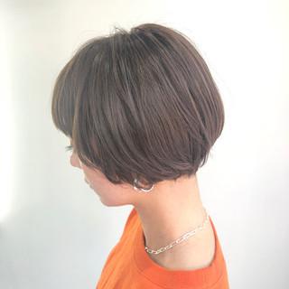 3Dカラー ナチュラル 大人可愛い ショートボブ ヘアスタイルや髪型の写真・画像