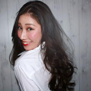 ロング 暗髪 コンサバ 艶髪 ヘアスタイルや髪型の写真・画像