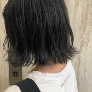 ネイビー ナチュラル ネイビーカラー ネイビーブルー ヘアスタイルや髪型の写真・画像