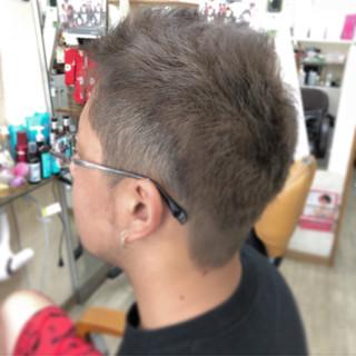 ショート ストリート グレー シルバー ヘアスタイルや髪型の写真・画像
