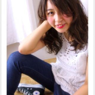ピュア フェミニン かわいい ゆるふわ ヘアスタイルや髪型の写真・画像