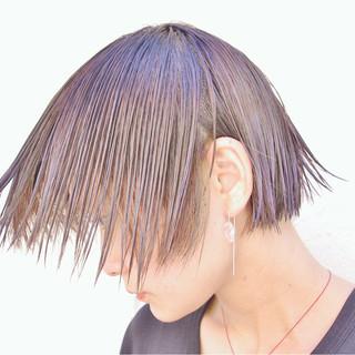 外ハネ ハイライト グラデーションカラー ショート ヘアスタイルや髪型の写真・画像 ヘアスタイルや髪型の写真・画像