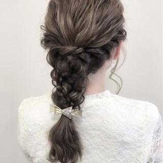 デート ロング 結婚式 ヘアアレンジ ヘアスタイルや髪型の写真・画像 ヘアスタイルや髪型の写真・画像