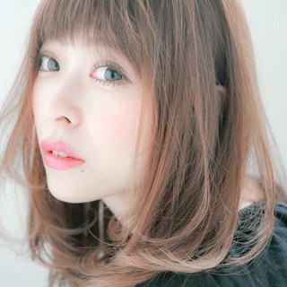 ミディアム 艶髪 ゆるふわ 大人かわいい ヘアスタイルや髪型の写真・画像