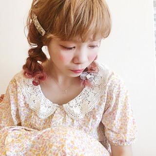 ヘアアレンジ グラデーションカラー 簡単ヘアアレンジ ミディアム ヘアスタイルや髪型の写真・画像 ヘアスタイルや髪型の写真・画像