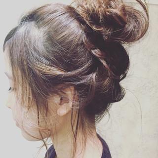 暗髪 ロング 簡単ヘアアレンジ アッシュ ヘアスタイルや髪型の写真・画像 ヘアスタイルや髪型の写真・画像