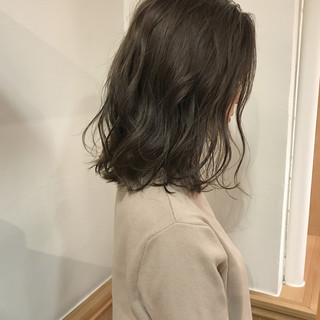 ロブ リラックス ボブ 切りっぱなし ヘアスタイルや髪型の写真・画像