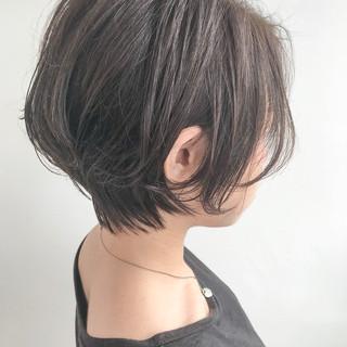 大人女子 小顔 ナチュラル ショートボブ ヘアスタイルや髪型の写真・画像