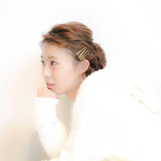 三つ編み 大人かわいい 結婚式 編み込み ヘアスタイルや髪型の写真・画像 ヘアスタイルや髪型の写真・画像