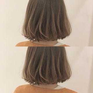 透明感 外国人風カラー ベージュ フェミニン ヘアスタイルや髪型の写真・画像