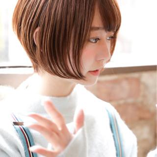 ショートボブ 大人女子 前下がり 簡単ヘアアレンジ ヘアスタイルや髪型の写真・画像