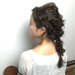 大人かわいい ヘアアレンジ セミロング 編み込み ヘアスタイルや髪型の写真・画像 ヘアスタイルや髪型の写真・画像
