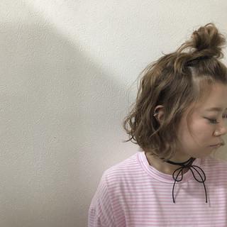 ガーリー ヘアアクセ ヘアアレンジ ボブ ヘアスタイルや髪型の写真・画像 ヘアスタイルや髪型の写真・画像