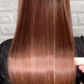 ヘアアレンジ ストレート ロング サイエンスアクア ヘアスタイルや髪型の写真・画像