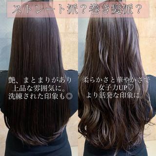 ココアベージュ 黒髪 結婚式 TOKIOトリートメント ヘアスタイルや髪型の写真・画像