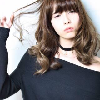 セミロング モード コンサバ フェミニン ヘアスタイルや髪型の写真・画像