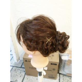 ヘアアレンジ ショート ゆるふわ ガーリー ヘアスタイルや髪型の写真・画像