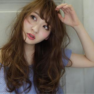 大人かわいい 大人女子 ガーリー ロング ヘアスタイルや髪型の写真・画像