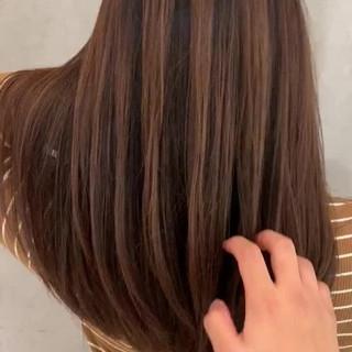 ラベンダーピンク バレイヤージュ スタイリング動画 ストリート ヘアスタイルや髪型の写真・画像