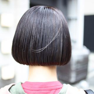 ボブ ナチュラル デート 黒髪 ヘアスタイルや髪型の写真・画像