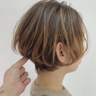 ハンサムショート 小顔ショート ショート ナチュラル ヘアスタイルや髪型の写真・画像