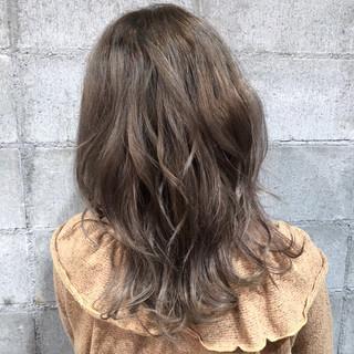 外国人風カラー ミディアム ヘアアレンジ ガーリー ヘアスタイルや髪型の写真・画像
