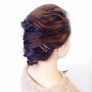 ロング 黒髪 アッシュ フェミニン ヘアスタイルや髪型の写真・画像