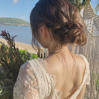 簡単ヘアアレンジ ロング 大人かわいい 結婚式 ヘアスタイルや髪型の写真・画像