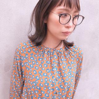 斜め前髪 前髪アレンジ ナチュラル 前髪パッツン ヘアスタイルや髪型の写真・画像