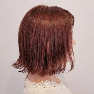 デート 女子会 秋 ボブ ヘアスタイルや髪型の写真・画像