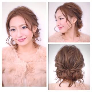 愛され 簡単ヘアアレンジ アップスタイル コンサバ ヘアスタイルや髪型の写真・画像