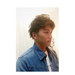 ストリート 外国人風 ブラウン メンズ ヘアスタイルや髪型の写真・画像