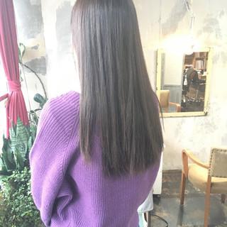 ヘアカラー インナーカラー ロング 韓国ヘア ヘアスタイルや髪型の写真・画像